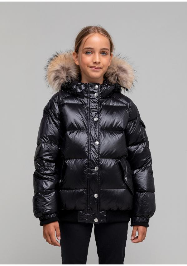 Aviator shiny down jacket
