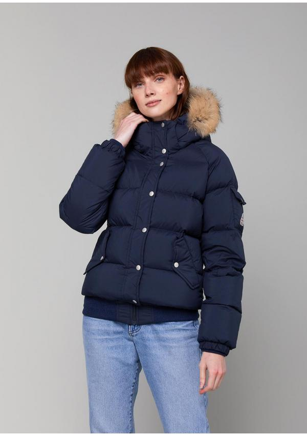Aviator bomber down jacket