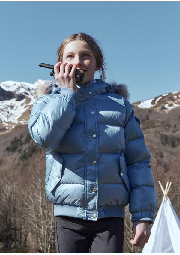 Aviator girl down jacket