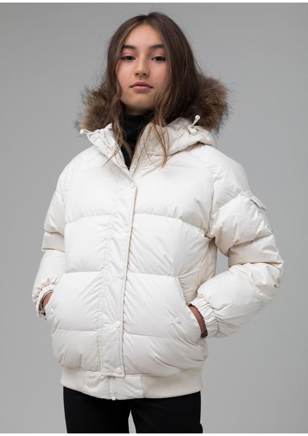 Aviator girl down jacket