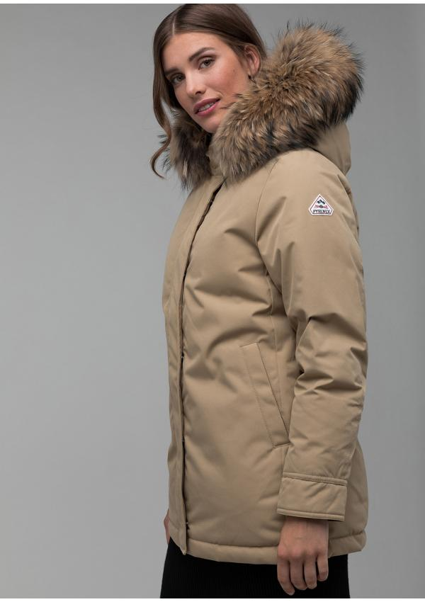 Bordeaux women down parka
