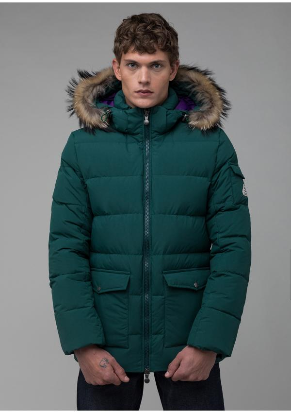 Authentic matte down jacket