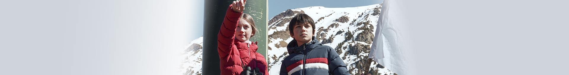 Pyrenex kids clothes collection : Down jackets, Parkas and Windcheaters for children, girl or boy.