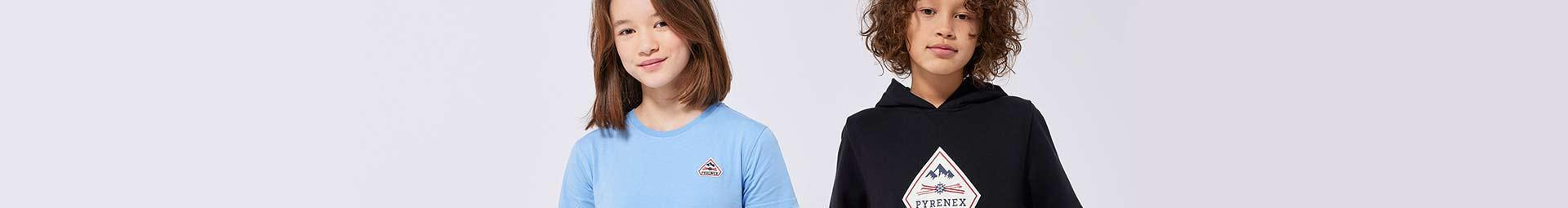 Kids textile collection from 8 to 16 years old. T-shirts and Sweaters | Pyrenex