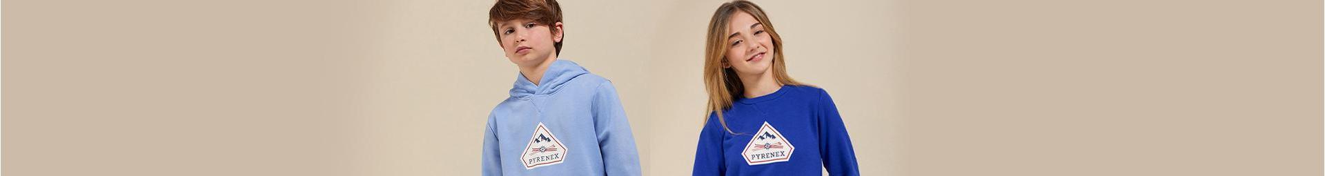 Mailles enfants de 8 à 16 ans. T-shirts et Pulls - Pyrenex