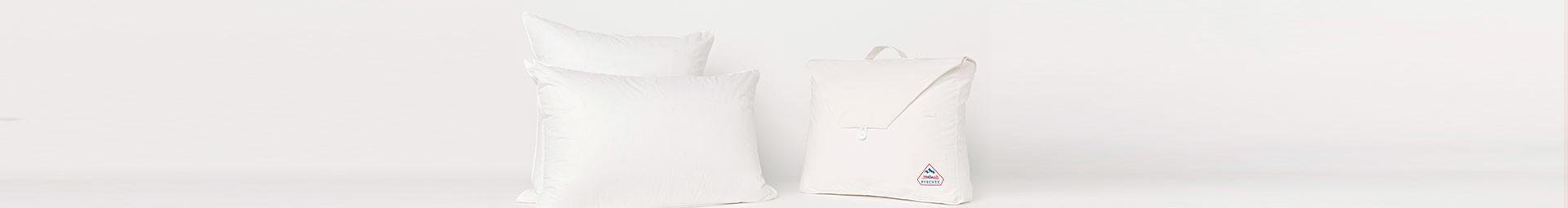 Natural feather and down pillows, duck or goose down pillows - Pyrenex